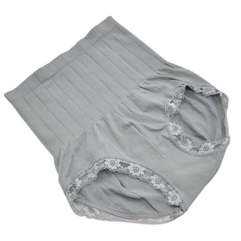 1c79665fb المرأة عالية الخصر سراويل الدانتيل الصلبة البطن الإناث الملابس الداخلية  تنفس سلس ملخصات في Culotte امرأة سراويل رقيقة الخصر S3