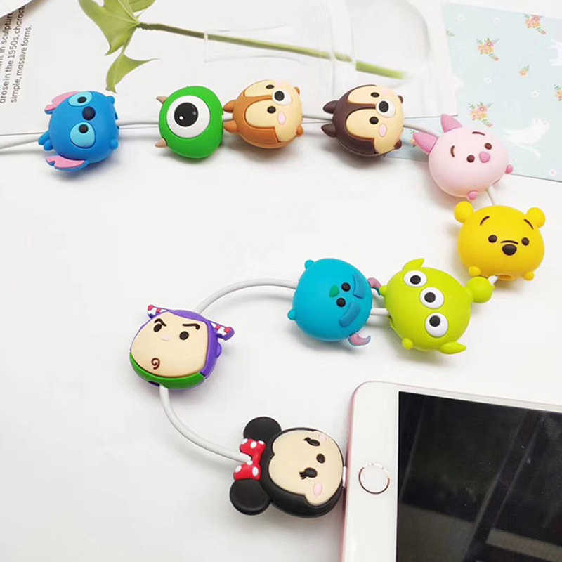 Universal socket Lovely Charger phone holder Cartoon Protector Cable Cord Saver Sleeve Cover For iPhone 6S 7 8 plus X Xs MAX XR