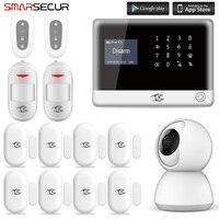 Smarsecur охранных Проводная сигнализация беспроводной GSM дома Защита от взлома системы