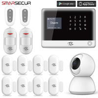 Smarsecur home security alarm Wired Wireless GSM Home Burglar Alarm Systems