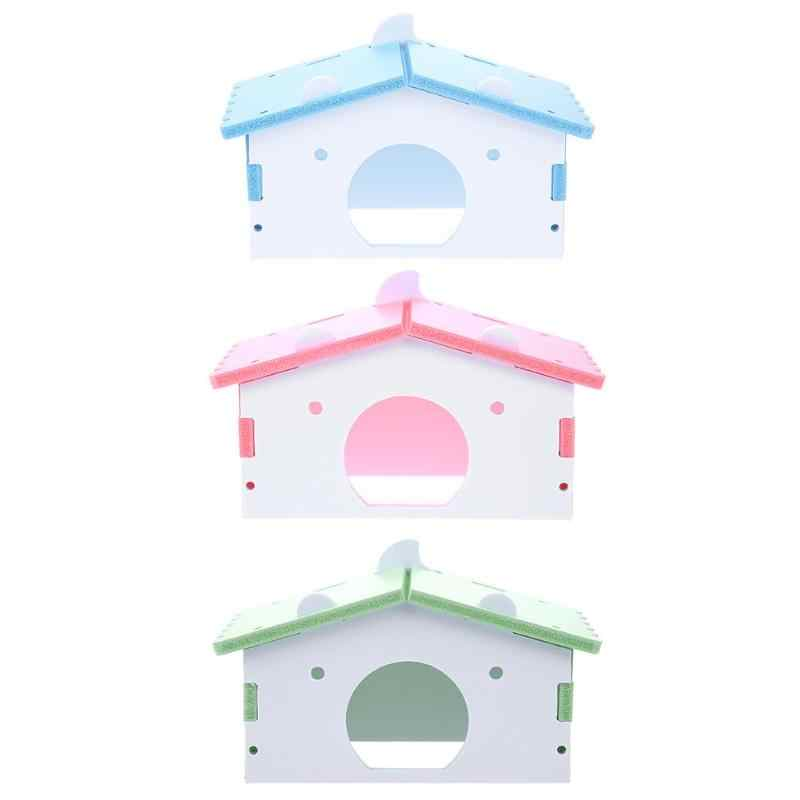 Madeira sólida Bonito Hamster Casa Lavável Ninho de Ratos Gaiola Guiné Porco Pequeno Esquilo Casa Para Casas de Produtos Para Animais de Estimação Hamster Rato ZG0008