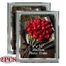 Giftgarden  8x10 Glass Frames with Silver Side Picture Frame Sets Home DecorTable Ornaments, Set of 2Pcs