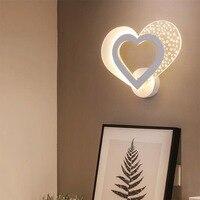 Quadro branco nova moderna lâmpada de parede led 8 w para corredor entrada varanda luzes iluminação para casa ac110v ac220v