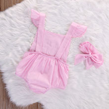 Baby Girls Floral Lace Fashion Rompers 0-18M
