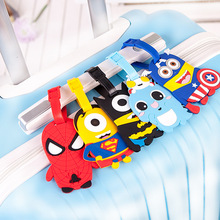 2019 Newest Travel Accessories Cute Cartoon Luggage Tag Silica Gel Suitcase ID Address Holder Baggage Tags Portable Label travel accessories suitcase luggage tags cute cartoon luggage label silicon plastic suitcase id address holder bus card cover