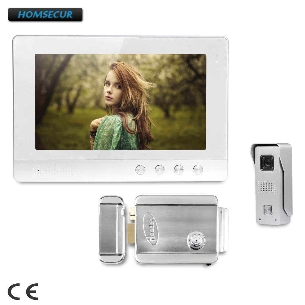 HOMSECUR 10.1inch Wired Video Door Phone Intercom System with Ultra-large Screen Monitor : XC002+XM101-SHOMSECUR 10.1inch Wired Video Door Phone Intercom System with Ultra-large Screen Monitor : XC002+XM101-S
