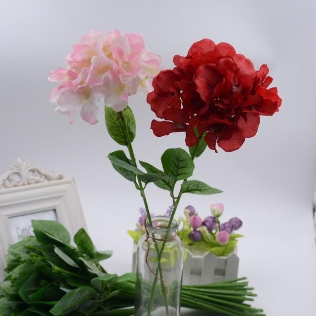 Grand Soie Hortensia Fleur Artificielle Pour Le Mariage De Valentine