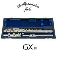 Muramatsu GX III Flute E Mechanism Flute16 Keys Holes Open Silver Plated Flute With Case Free Shipping
