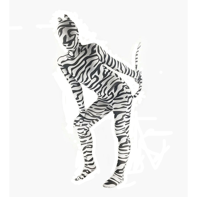 f6b5bfdd6ed Adult Unisex Kids Halloween Costume Animal Zebra Leopard Costume Catsuit  Jumpsuit Zentai Funny Costume For Women Men Big Size