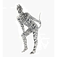 Adult Unisex Kids Halloween Costume Animal Zebra Leopard Costume Catsuit Jumpsuit Zentai Funny Costume For Women Men Big Size