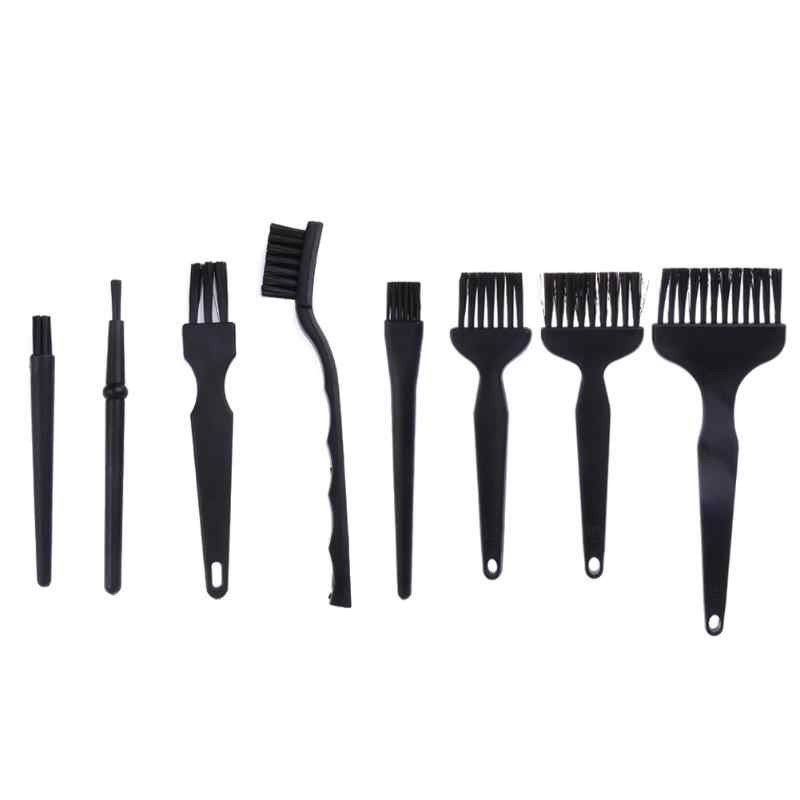 8pcs Anti Static Brush ESD Safe Synthenic Fiber Details Cleaning Brush Tool For Mobile Phone Tablet PCB BGA Repair Work