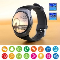 KW18 Smart Watch Heart Rate Monitor Fitness Tracker Bluetooth Touch Screen Smartwatch Support SIM TF Card for IOS Andriod Phone