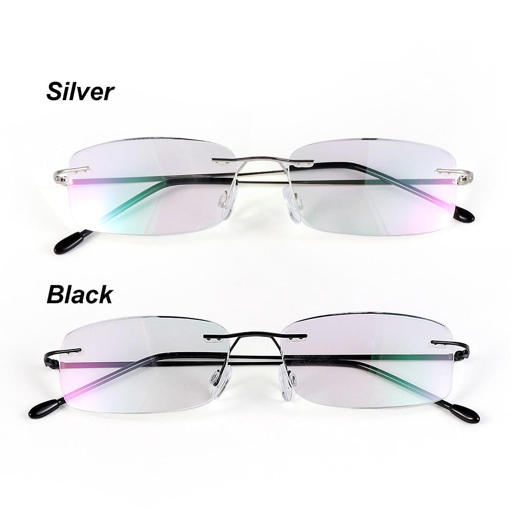 Health Care Reading Glasses For Elder Rimless Ultra-light Memory Titanium Eyeglasses Magnetic Rectangular Eyewear Accessories(China)