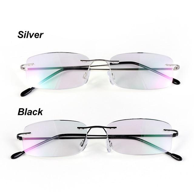 a865164956bb Health Care Reading Glasses For Elder Rimless Ultra-light Memory Titanium  Eyeglasses Magnetic Rectangular Eyewear Accessories