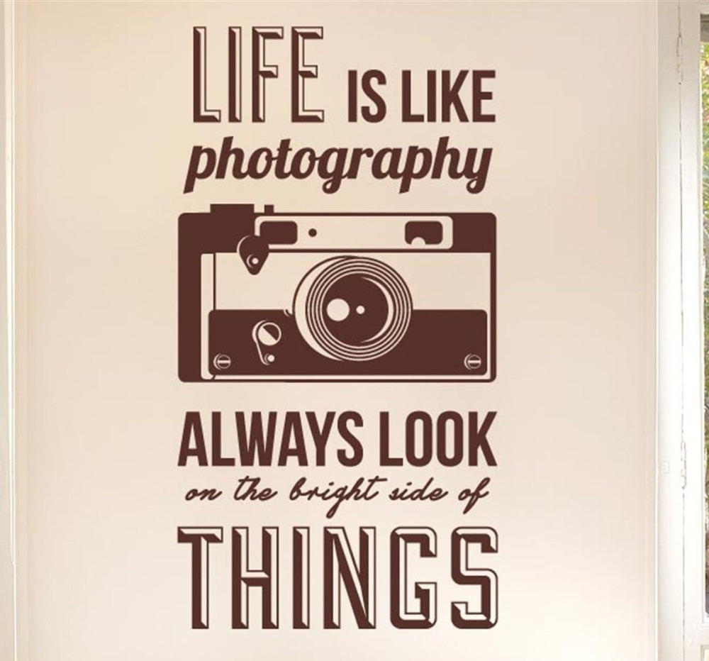 Photography Quotes Life Is Like Photography Quotes Camera Wall Sticker Art Vinyl Home