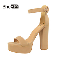 Купить с кэшбэком Women Newest Classic 13.5cm High Heel Shoes High Quality Women Sandals Female Gladiator Summer Ladies Shoes Sexy Party Pumps
