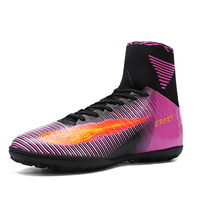 New High Quality Men S High Ankle Turf Sole Indoor Cleats Football Soccer Boots Men Shoes
