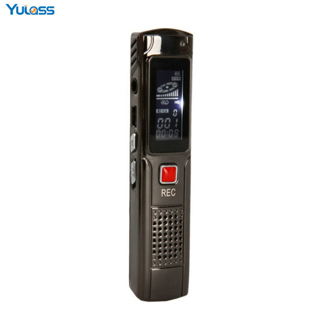 Yulass Mini Digital Voice Recorder Rechargeable 8GB Voice Activated USB Digital Audio with MP3 WMA Format Free Shipping