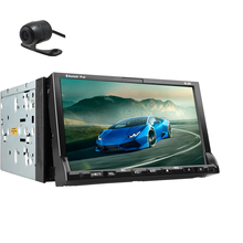 Free HD Backup Camera+Double 2 Din 7″ LCD Touch Screen In Dash GPS Navi Car Stereo DVD Player Bluetooth Radio ipod USB/SD/RDS