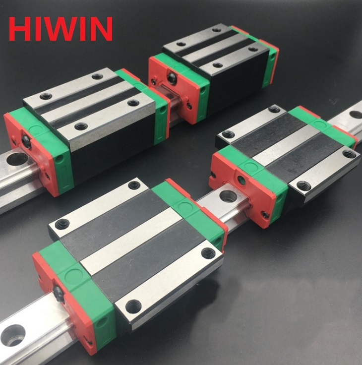 2pcs 100% original Hiwin linear guide HGR20 -L 1500mm + 2pcs HGH20CA and 2pcs HGW20CA/HGW20CC block 2pcs original