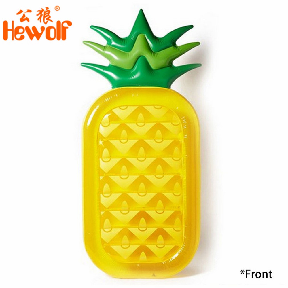 Hewolf New Summer Beach Swimming Pool Float Mattress Inflatable Pineapple Lounge Seat Raft Floating Bed Air Mat Water Game Toy intex pacific paradise lounge marine intex 58286 chaise lounge water floating row floating bed water