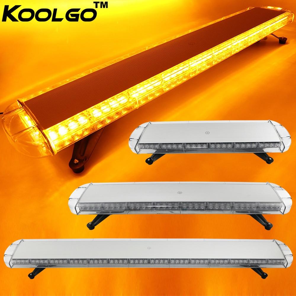 KOOLGO 30 to 72 Car Truck Police LED Strobe Light Bar Flash Emergency Warning Beacon Signal