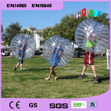 Free shipping!1.2m PVC transparent inflatable bubble soccer ball/bumper soccer ball/bubble ball for football