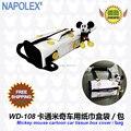 Acessórios carro dos desenhos animados mickey mouse tampa da caixa de tecido carro WD-108