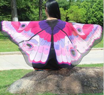 Miękkie szyfonowa motyl Isis Wings pomarańczowy monarchy skrzydła wydajność kostiumy wróżka płaszcz dla dzieci dorosłych tanie Hot sprzedam tanie i dobre opinie Ndrahi WOMEN W-1907 Taniec brzucha Poliester
