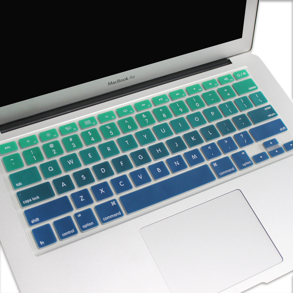 US Version Gradient Colors keyboard cover for macbook pro 13 39 39 15 39 39 retina air 13 English rainbow cover keyboard Skin protector in Keyboard Covers from Computer amp Office