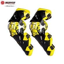 SCOYCO-Protector amarillo para rodilla, Protector para Moto de montaña, anticaída, resistente al viento, para ciclismo de carreras