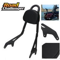 Motorcycle Black Rear Passenger Backrest Sissy Bar Luggage Rack For Yamaha Star Bolt XVS950 2014 17 16 15