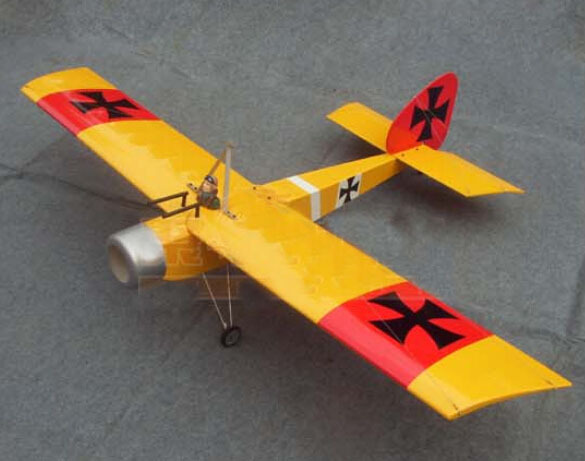 63in Baron 15CC RC Model Gasoline/Petrol Airplane ARF -Yellow Color image