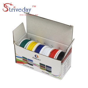 Image 3 - UL 1007 24AWG 60m/box Electrical Wire Cable Line 6 colors Mix Kit Airline Copper PCB Wire DIY