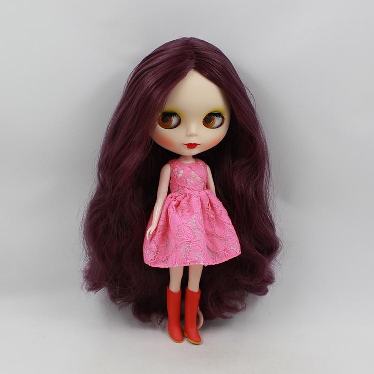 ФОТО Mini Blyth doll nude model purple long hair 12 fashion Limited Collection blyth doll for girls