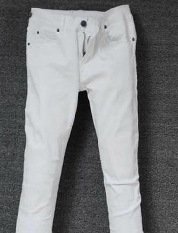 2018 Spring Summer New Mens Clothes Casual White Cotton Slim Pants Fashion Micro-bomb Low Waist Mens Jeans Size XS-3XL
