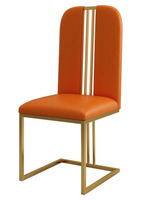 Modern simple household dining chair steel chrome plated dining chair with different PU leather Stainless stell dining chairs