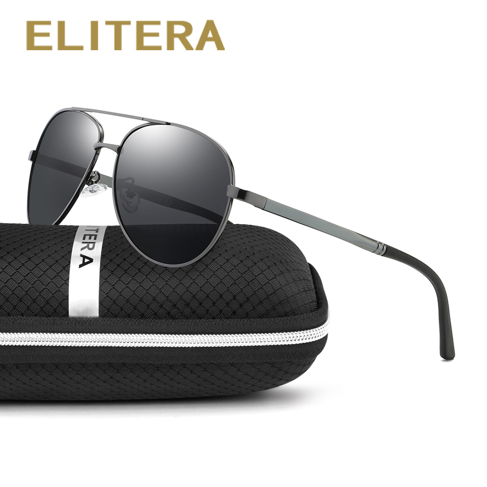 ELITERA márkaszerviz napszemüveg férfiak polarizált UV400 szemek védelme sportbevonat napszemüvegek Google Pilot 1306 nagykereskedelem