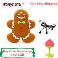 TYRY.HU 10pcs Silicone Gingerbread Teether Baby Silicone Teething Necklace Chewable Toys BPA Free Toddler Infant Free Shipping