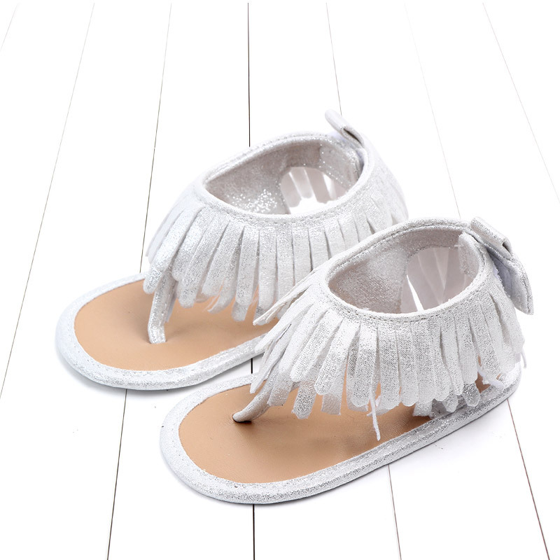 Baby comfortable sandals 2018 summer new boy girls beach shoes kids casual sandals children fashion Baby Girl Tassel Sandals (19)