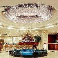 Потолочный светильник K9 кристалл лампы гостиной фойе свет 1 м потолочный светильник роскошный прозрачный кристалл villa Hotel 110 220 В