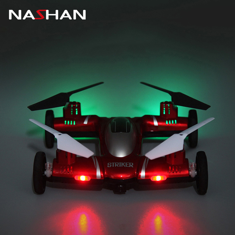 New 2.4G 4.5CH 6 Axis Gyro Air Ground Flying Car with Camera Drone 360 Degree Flips Auto Return Dron Quadcopter Headless Mode цена
