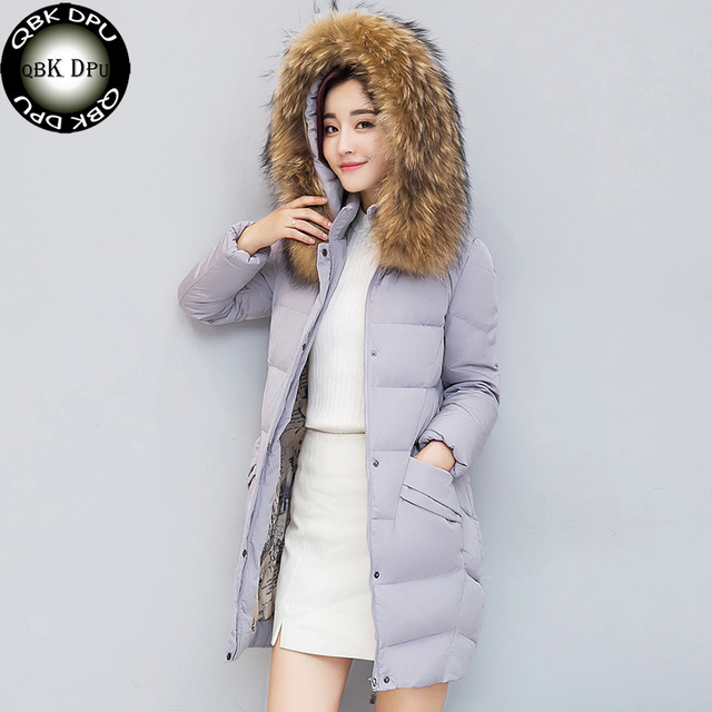 969f59467ad 2018 Fashion Brown Fur Collar Womens Winter Jackets Down Cotton Plus Size  Thicken Hooded Warm Coat Women Slim Casual Parkas 3XL