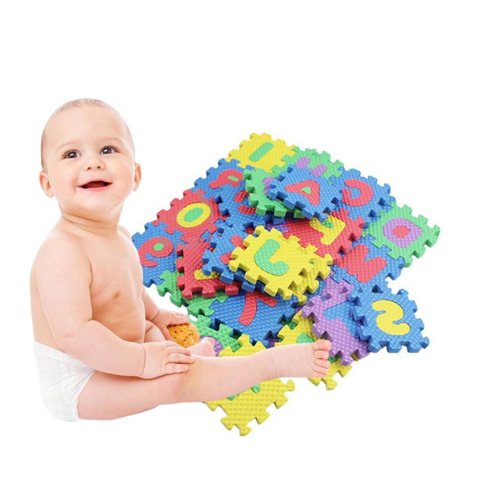 36Pcs Letter Pattern Foam Puzzle Children Carpet Carpet Split EVA Baby Game Mat Indoor Soft Activity Puzzle Mat