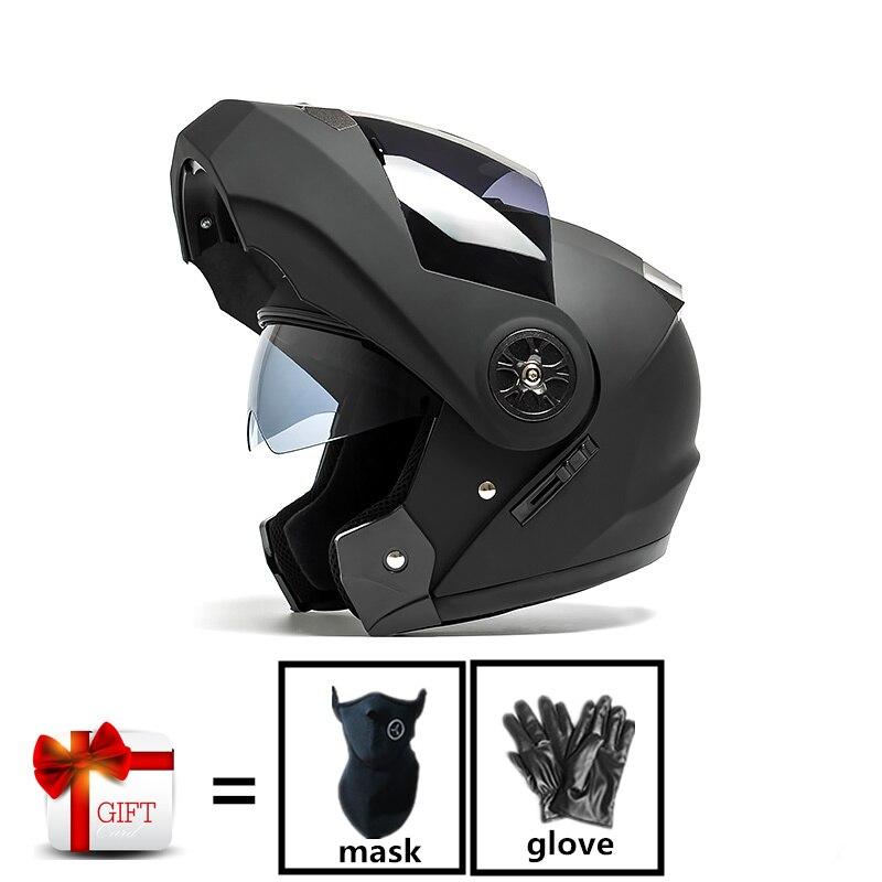 2019 nouveau Casque de Moto Flip Up Casque de Moto double lentille modulaire Casque de Motocross Casque intégral Casco Moto Capacete Casque