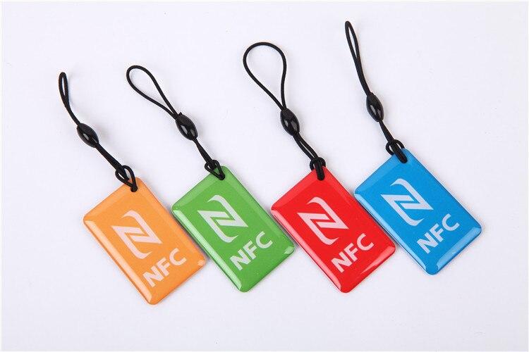 4 Teile/los Ntag216 Nfc Tags Schlüssel Token 13,56 Mhz Rfid Smart Card Für Samsung Galaxy Sony Xperia Nokia Nexus7 Lg Htc Xiaomi Hell