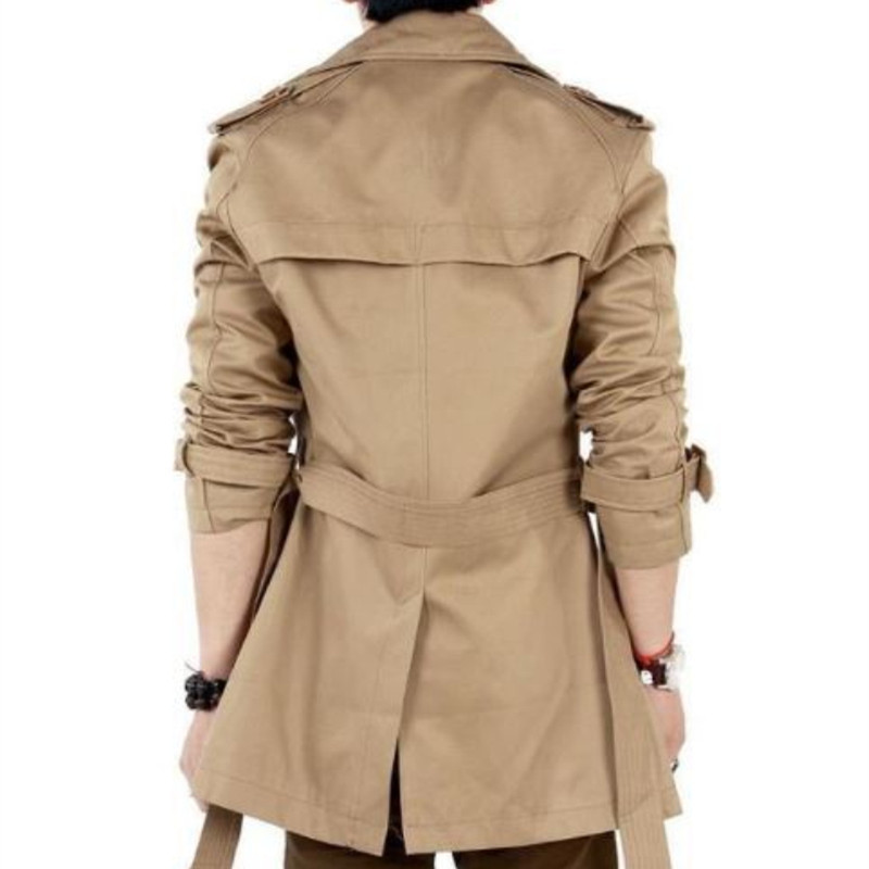 Mogu Тренч Для мужчин осень-весна двубортный Для мужчин верхняя одежда Повседневное пальто Для Мужчинs Куртки ветровка Для мужчин S Тренч