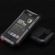 Роскошный Металлический алюминиевая телефон чехол для Coque iPhone 5 5S SE 6 6S 7 Plus Водонепроницаемый противоударный Спорт на открытом воздухе Броня Fundas