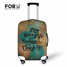 Forudesigns/модные печати Багаж Защитная крышка для 18-30 Дорожный чемодан, Пылезащитный чехол эластичные Водонепроницаемый Аксессуары охватывает