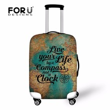 FORUDESIGNS Travel on Road Printing Luggage Protective Cover Suitcase Cover Dustproof Elastic Luggage Covers Travel Accessories